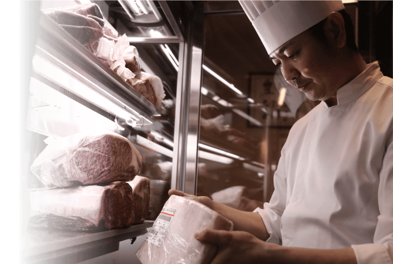 "SOMURI仅使用""大分丰后牛 顶""级牛肉,"